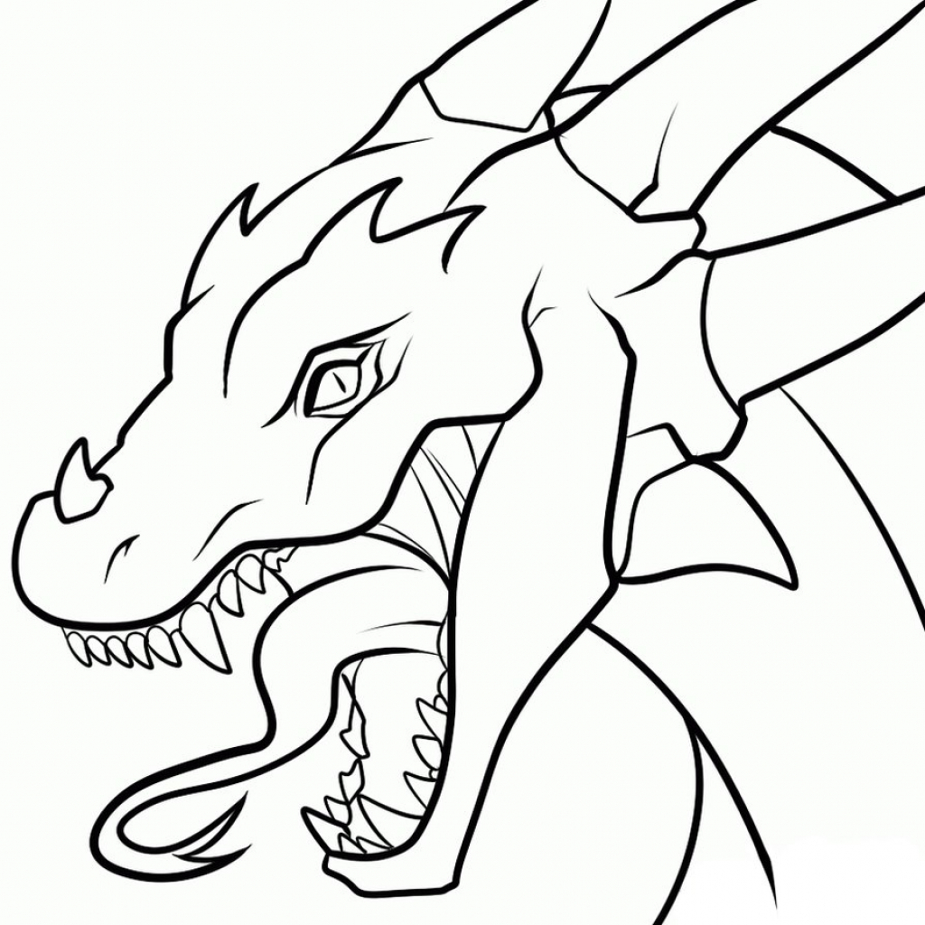 1024x1024 Drawings Of Dragons Cool Drawings Of Dragons Head 3 Decoration