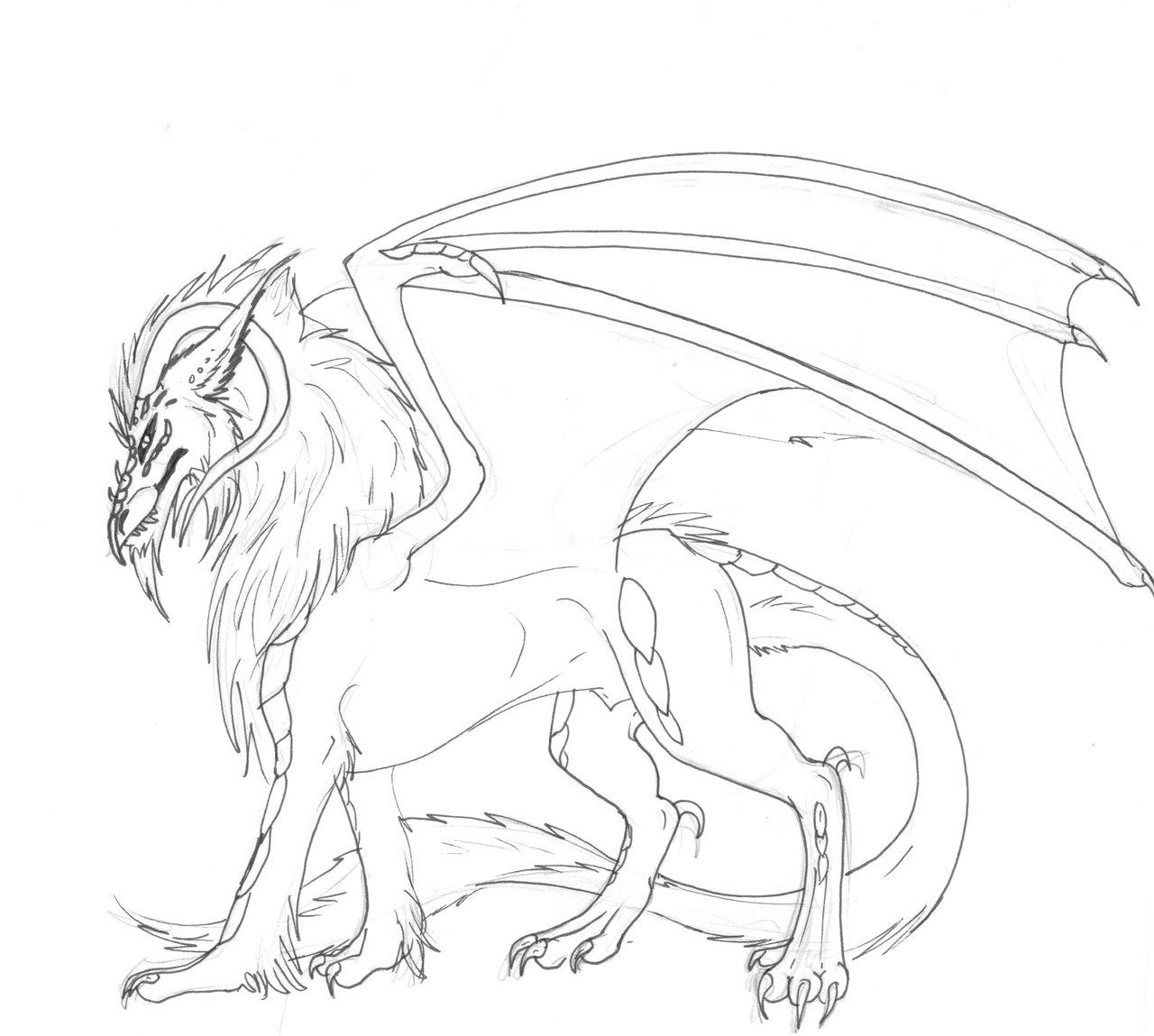 1280x1149 Rygos (Traditional Dragon Drawing) By Artha Amberose