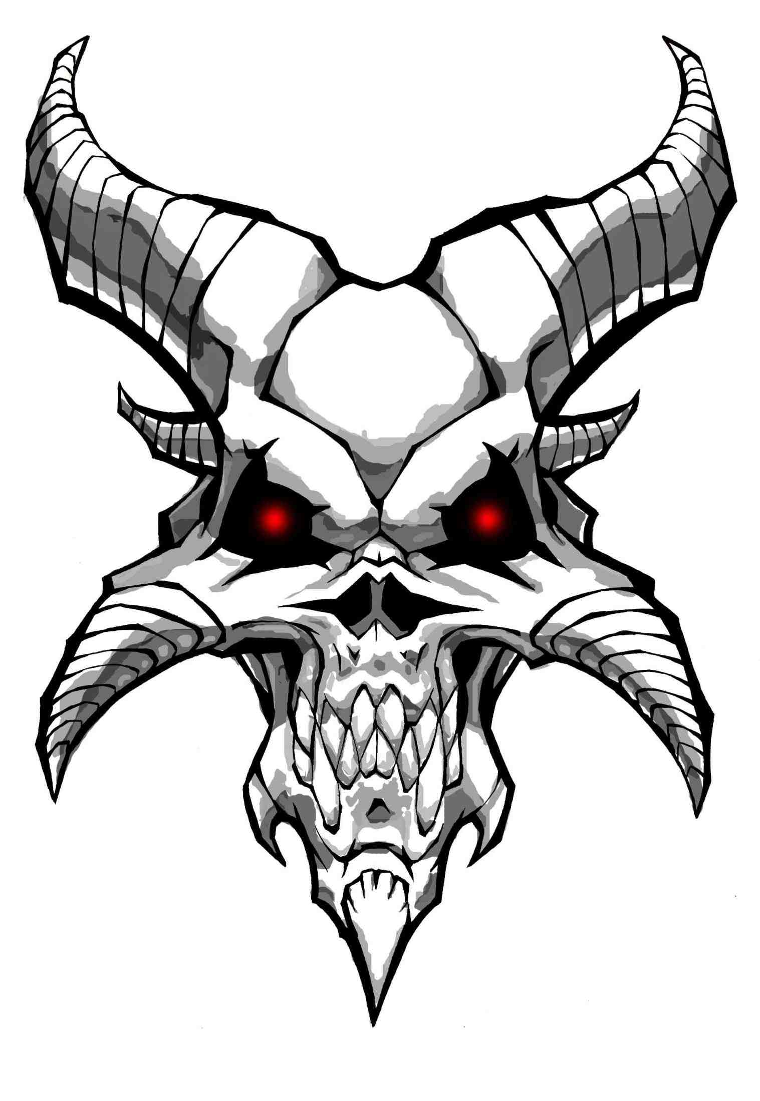 1517x2199 Cool Drawings Of Dragons And Skulls