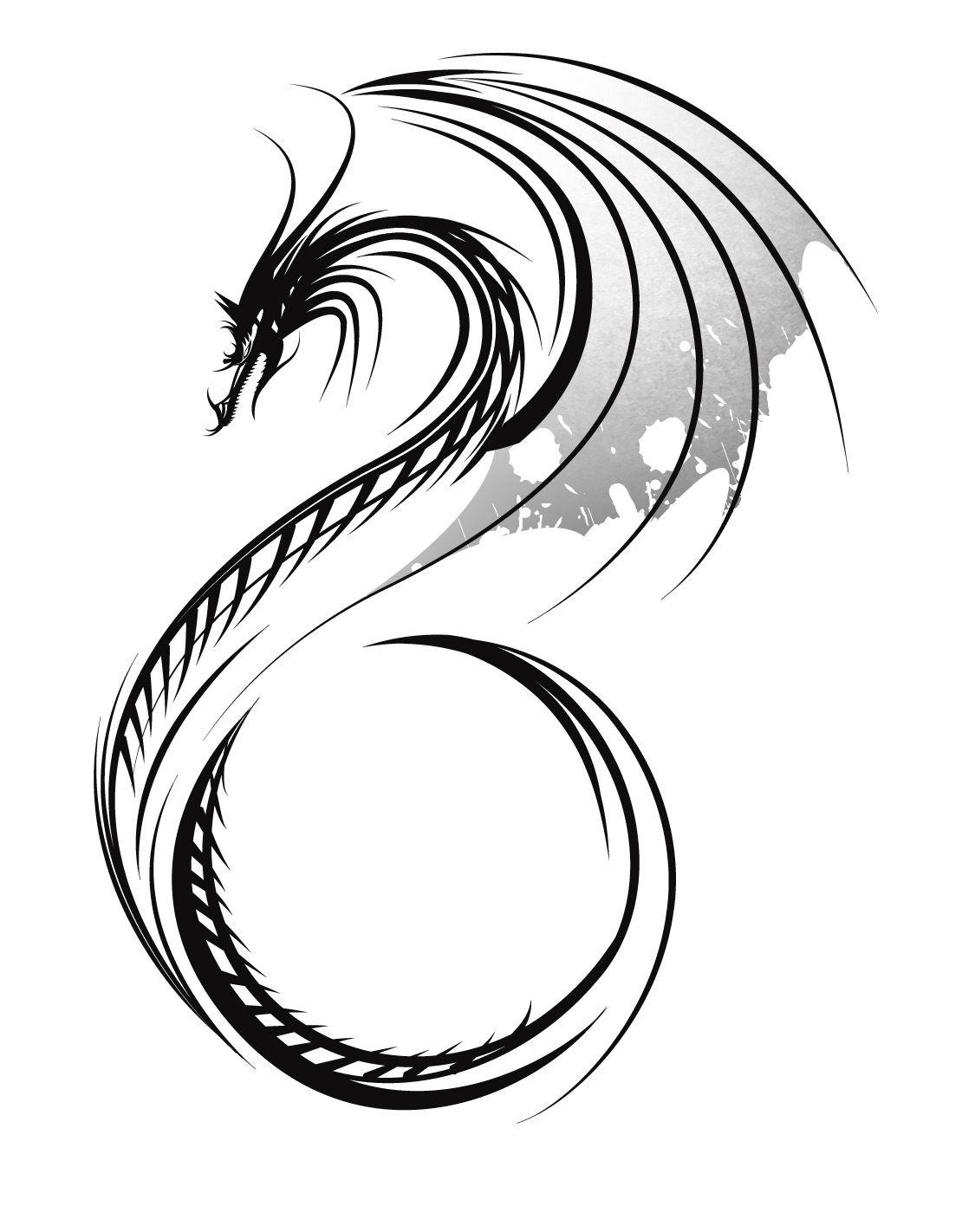 1110x1422 Small Dragon Tattoos For Women