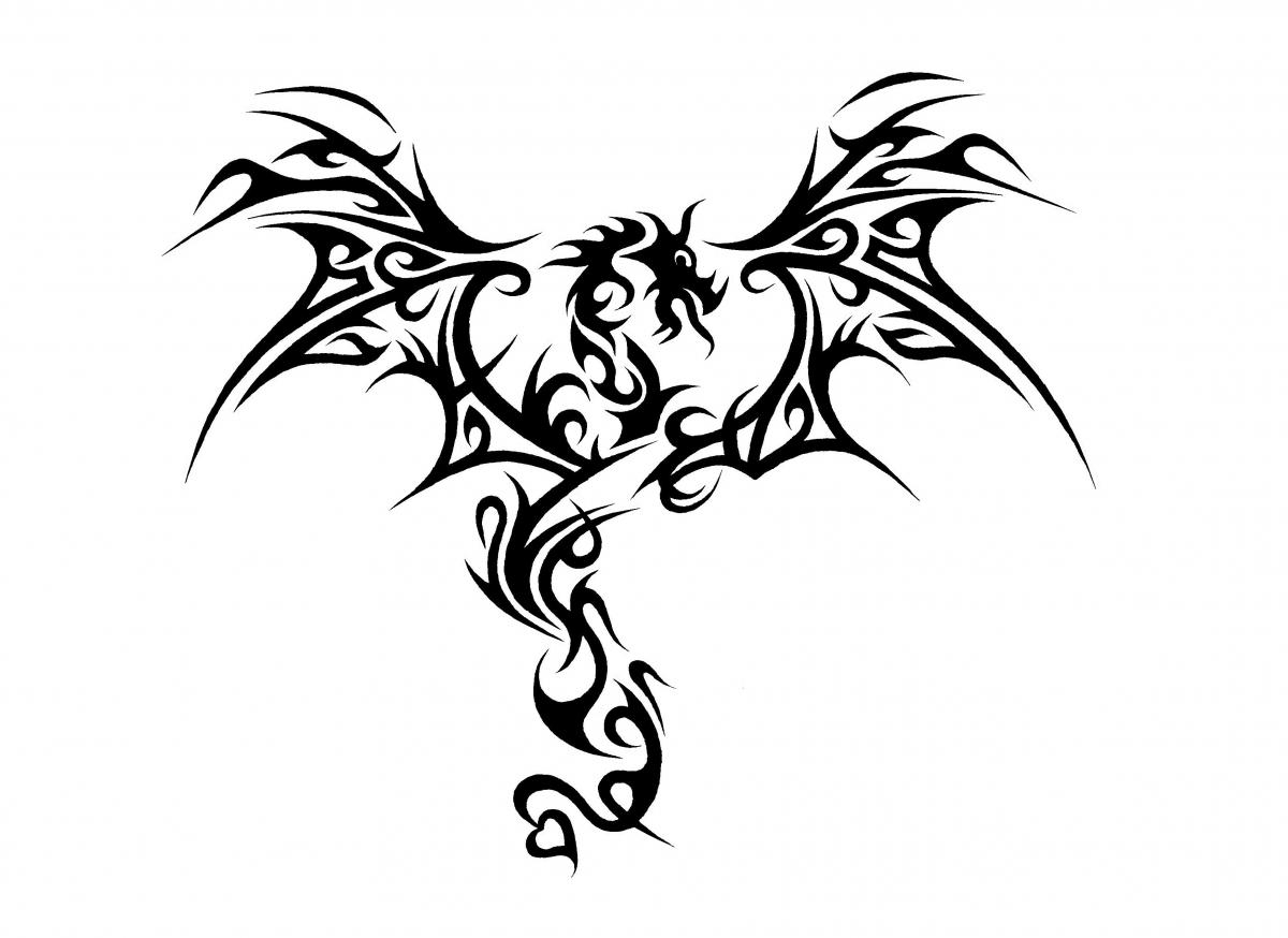 1200x874 Cool Black And White Drawings Dragon Head (Black And White