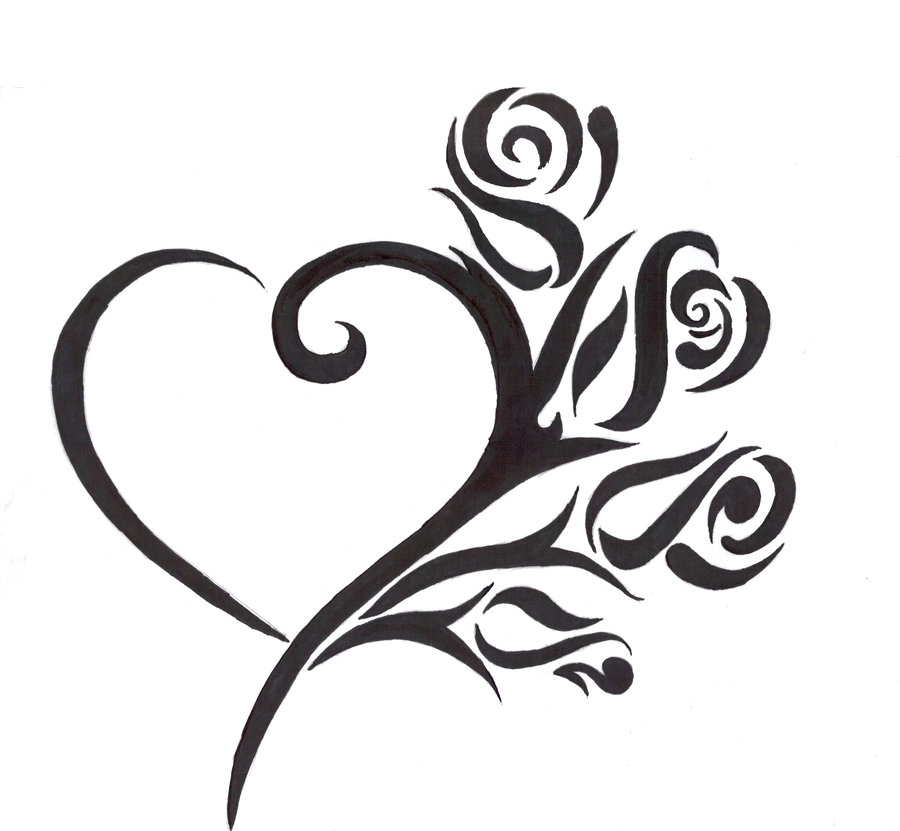 900x831 Drawings Of Heart Tattoos Cool Tattoos Designs