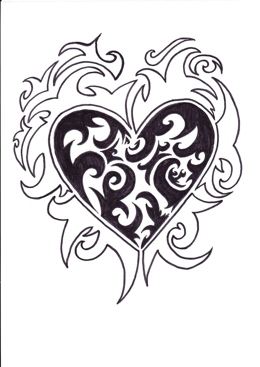900x1273 Photos Drawings Of Hearts With Designs,