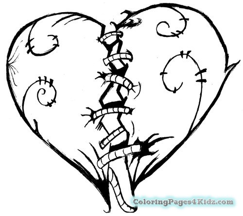 500x444 Coloring Pages For Kids Cool Hearts Coloring Pages For Kids