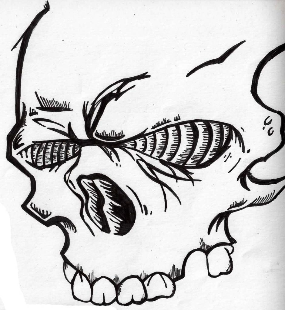 940x1024 Cool Drawings Of Graffiti Skulls Graffiti Drawing Skull Drawing