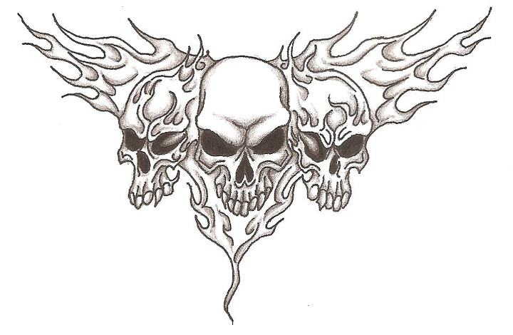 720x470 Drawings Of Skulls On Fire Group