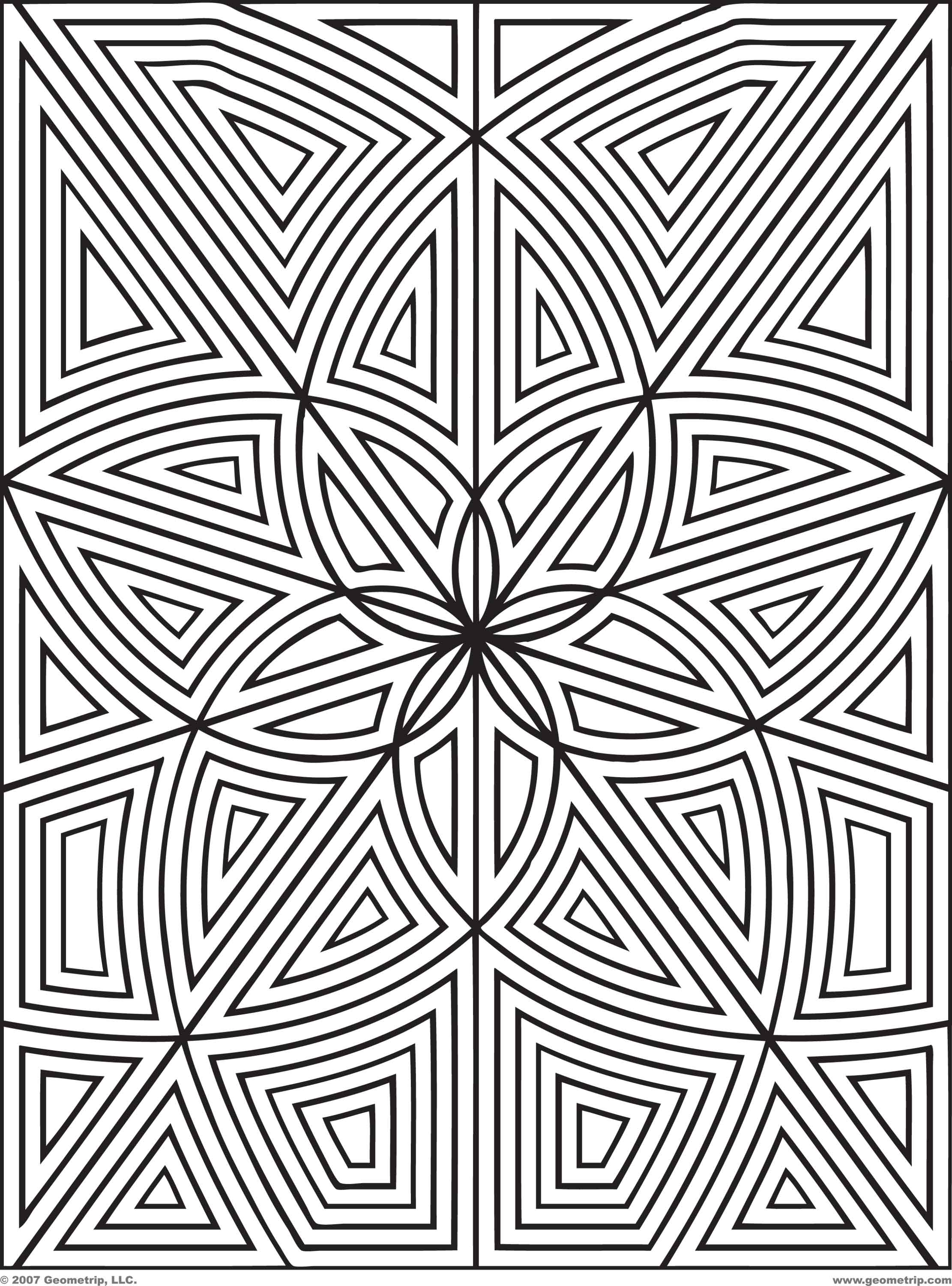 2222x3000 Design Coloring Page Designs To Print And Color Geometrip Com Free
