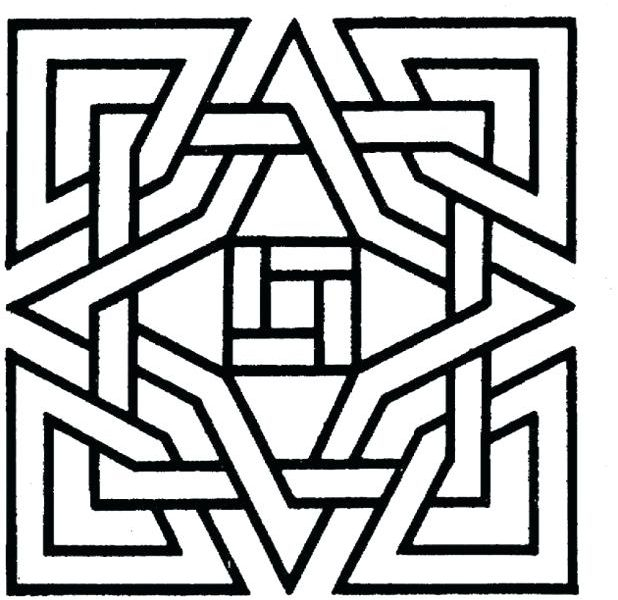 618x600 Cool Coloring Patterns Geometric Patterns Coloring Pages Cool