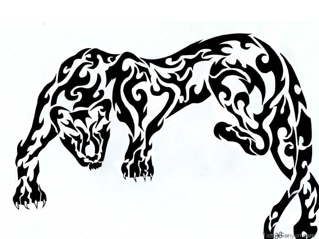 1024x768 Black Panther Tribal Tattoo Designs