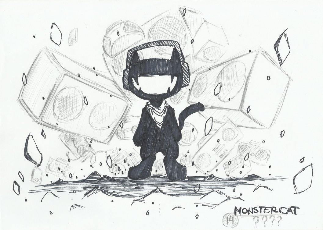 1058x755 Monstercat Drawing Music Drawings, Edm And Dubstep