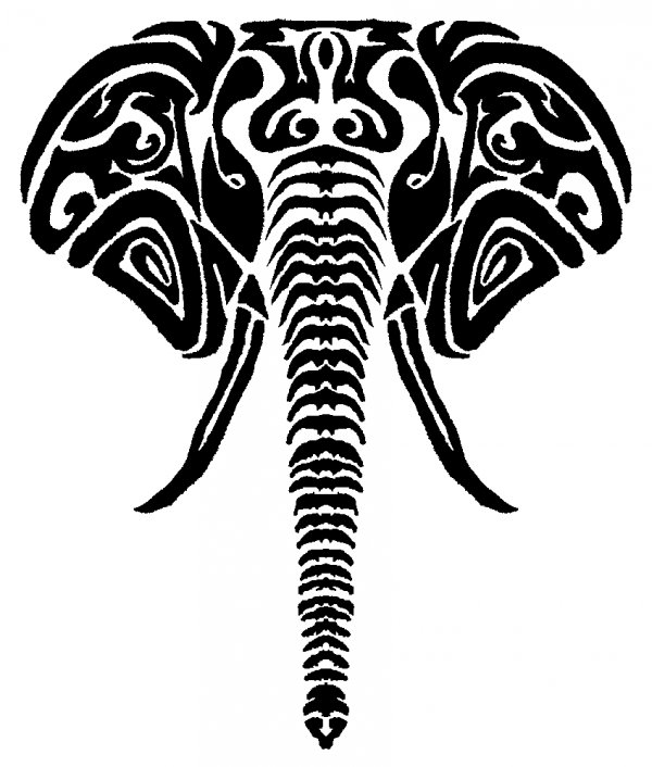 600x706 Elephant Tribal By Pjmohr
