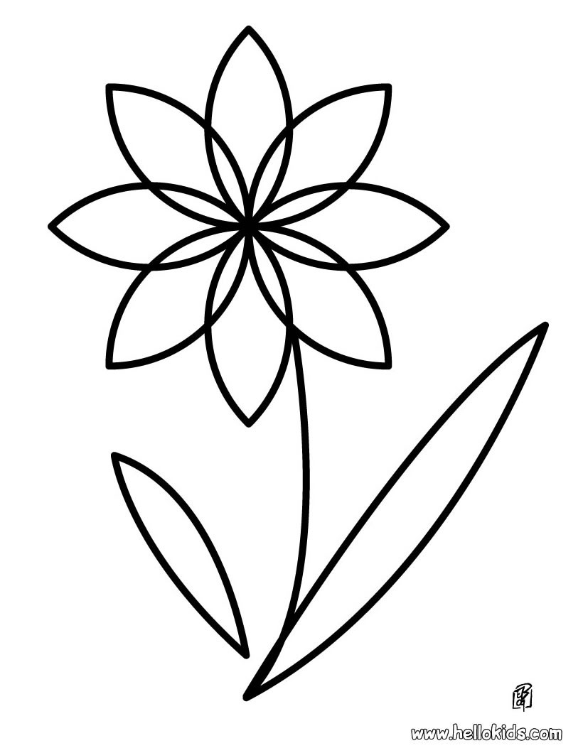 820x1060 cool flower pictures to color kids design gall - Flower Coloring Page