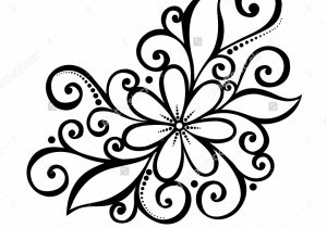 300x210 Decorative Flower Drawings Cool Coloring Pages