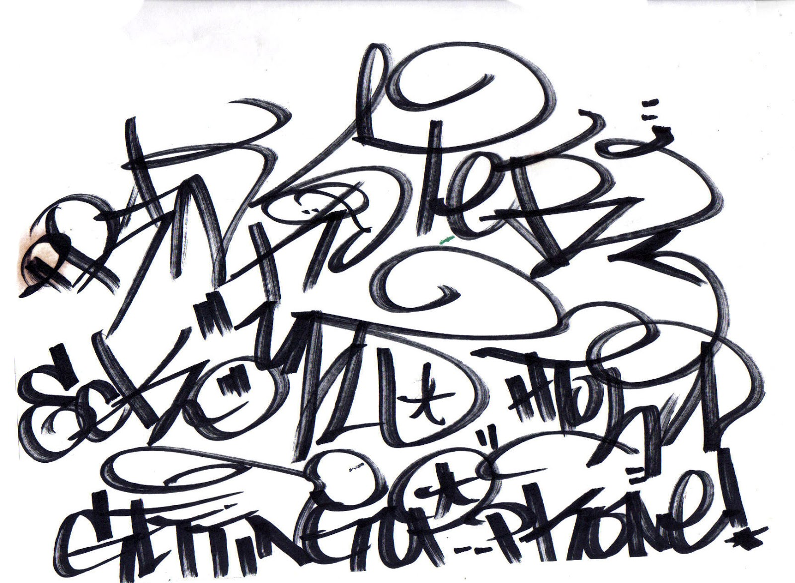 Cool Graffiti Drawing at GetDrawings.com | Free for personal use ...