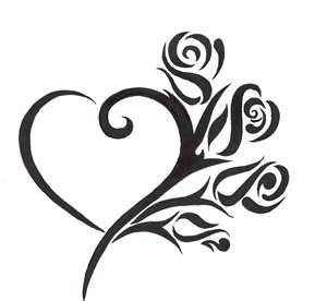 300x276 Heart Tattoo Designs
