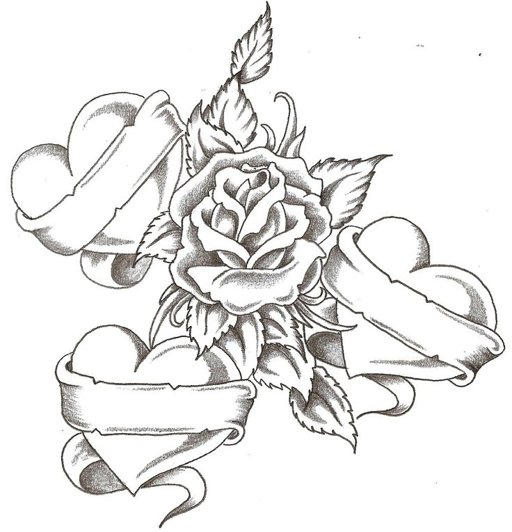 736x764 Coloring Pages Hearts And Roses Coloring Page For Kids