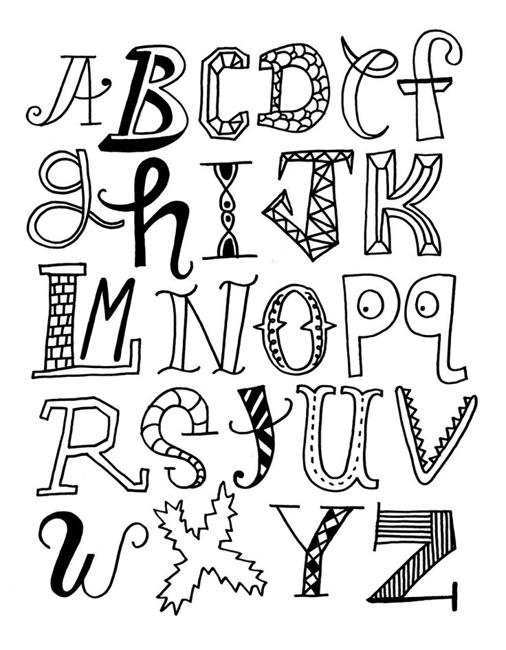 736x945 Drawn Typeface Creative Writing