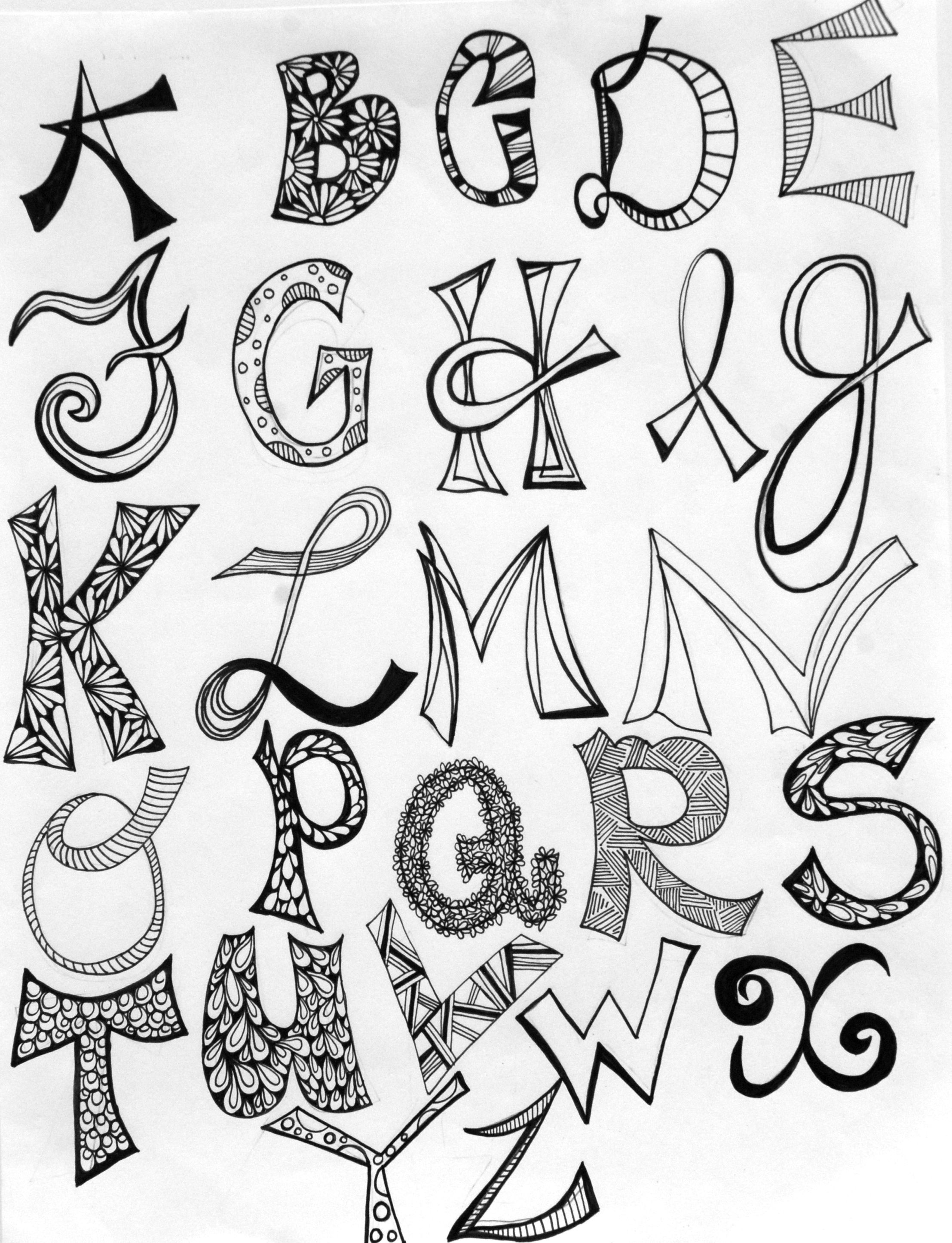 2215x2892 Hand Lettered Alphabets Hand Lettering Artistically Afflicted