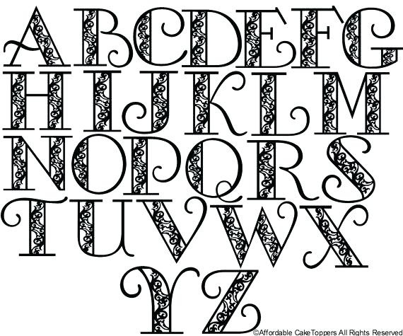 570x475 Cool Alphabet Letters Designs To Draw Templates Corner