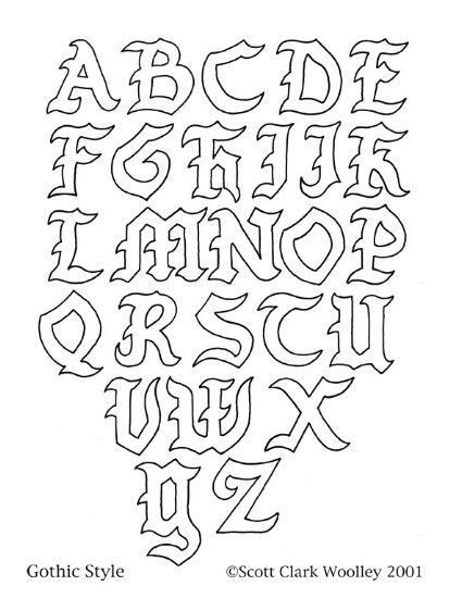 425x550 Cool Letters Alphabet To Draw Example