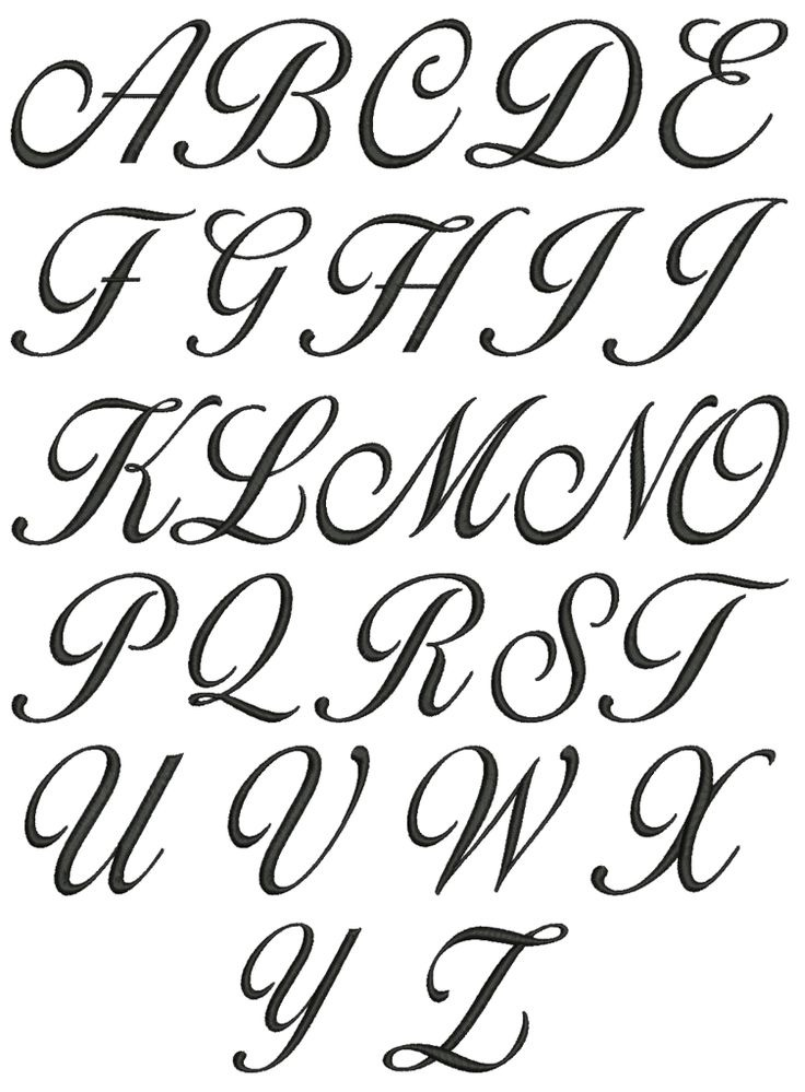 736x999 Fancy Letters Format
