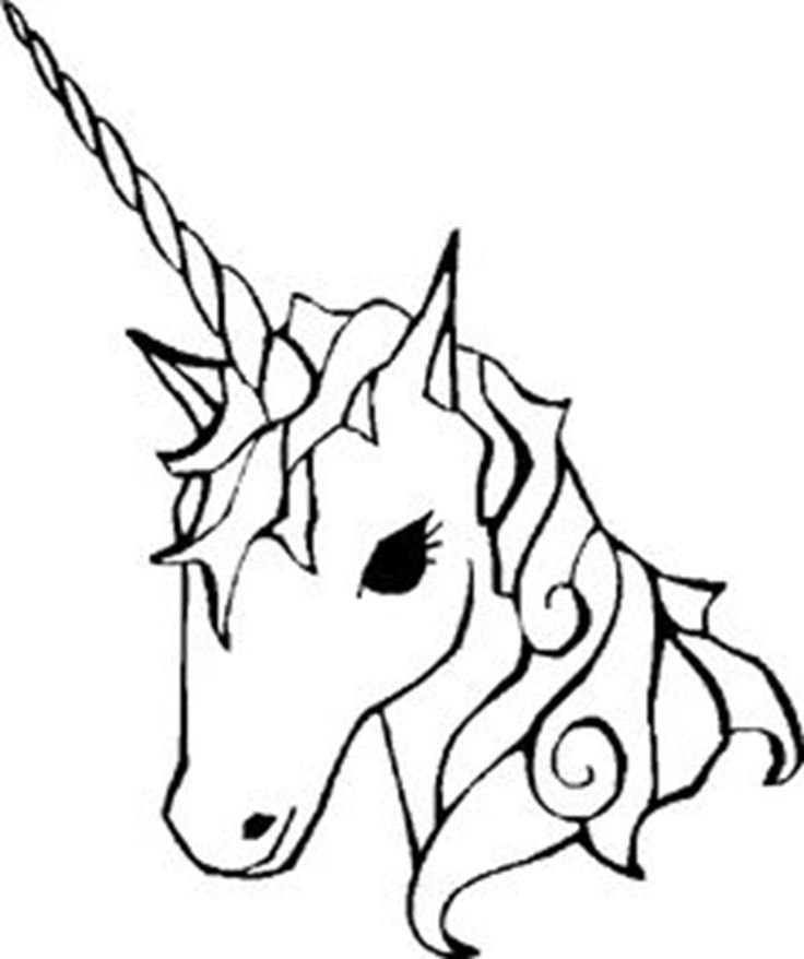 736x878 Cool Unicorn Line Drawing Of A Coloring Stock Vector Image