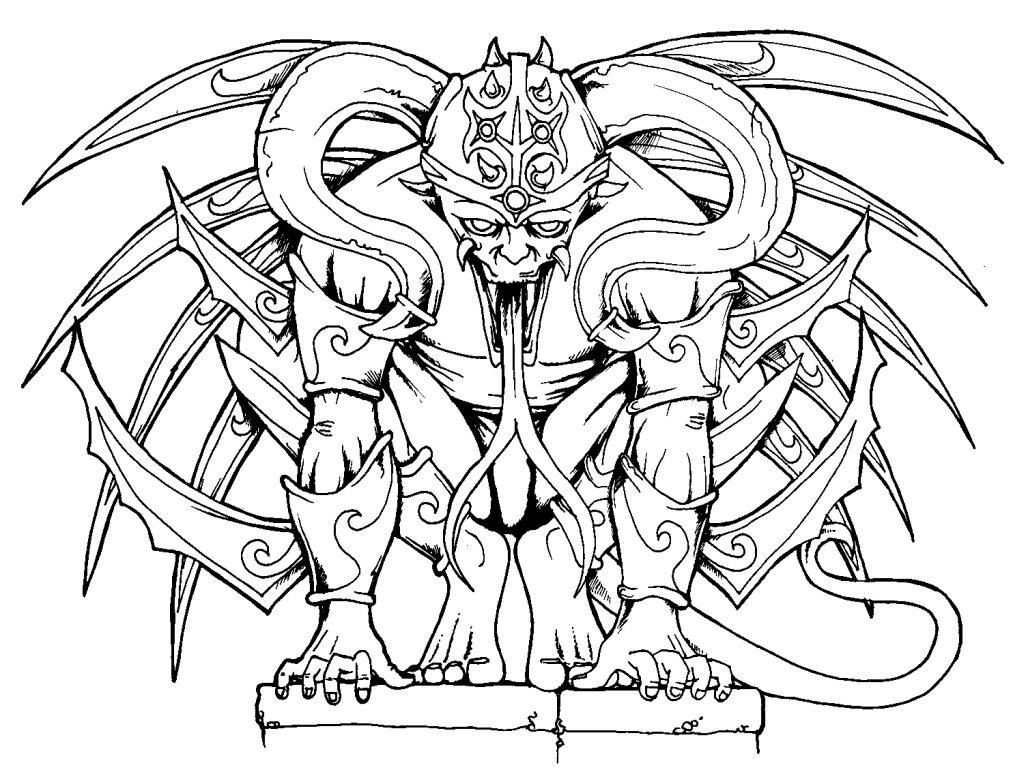 1024x768 Beast Line Drawing By Spunkymonkey