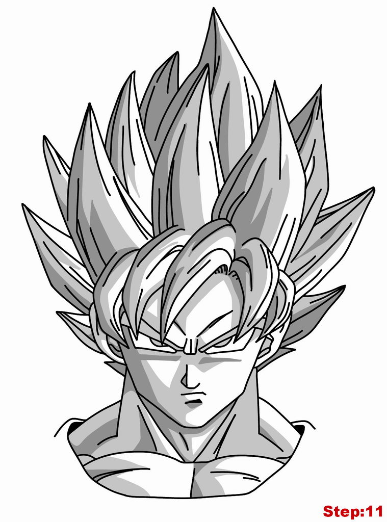 759x1024 How To Draw Goku Super Saiyan From Dragonball Z How To Draw
