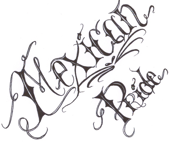 574x484 Mexican Pride Lettering By Chsicka