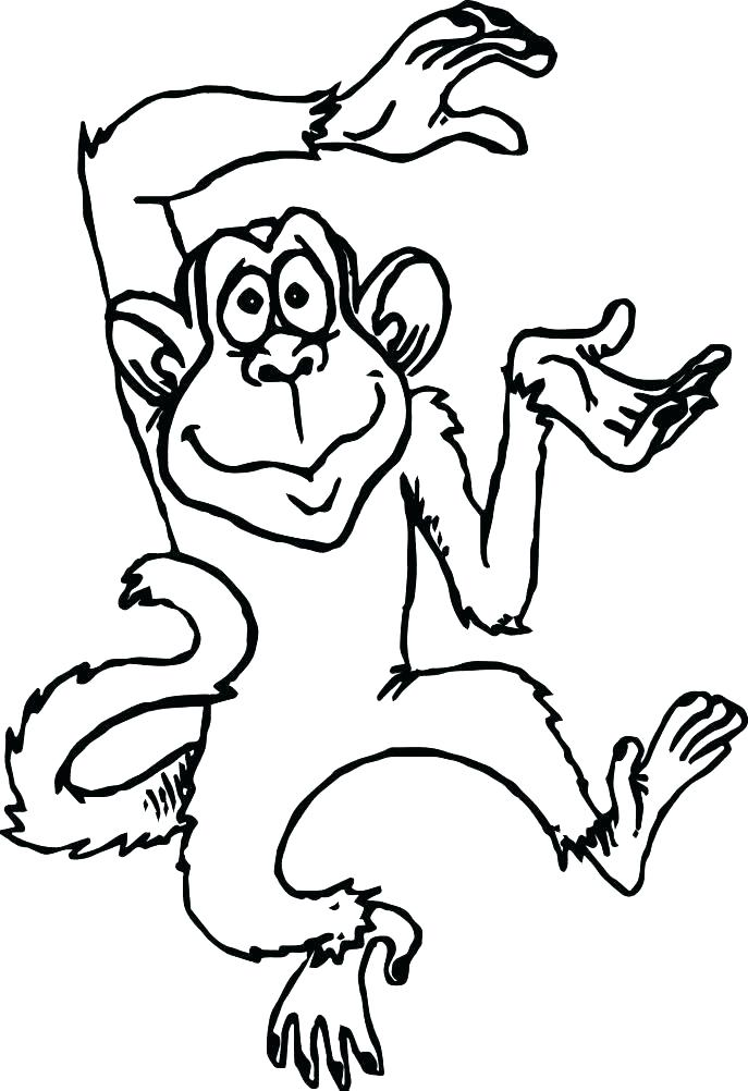 687x1002 Beautiful Coloring Page Of A Monkey New Sheets Free Printable