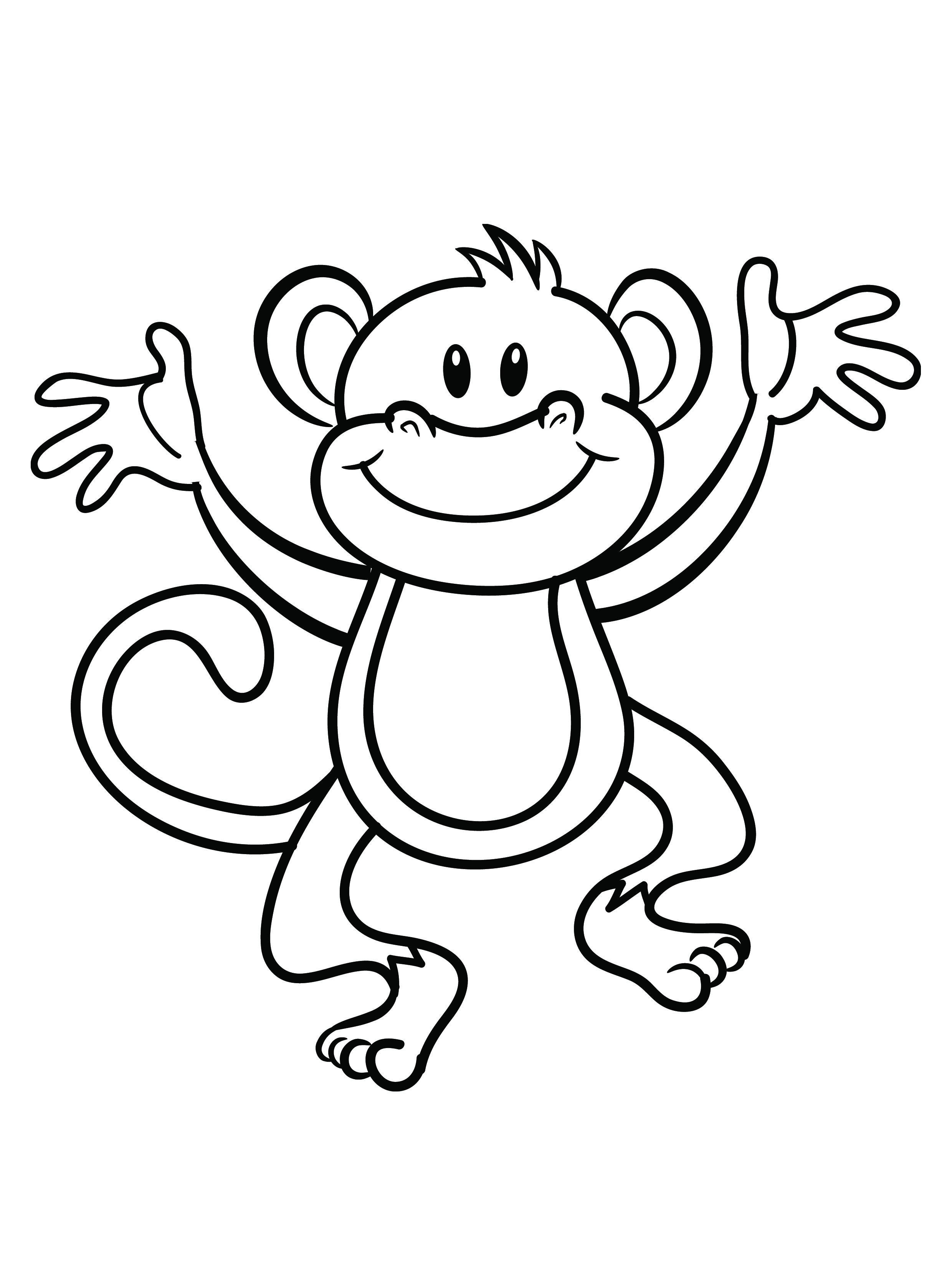 2480x3286 Monkey Coloring Pages For Preschoolers Colouring In Fancy Page