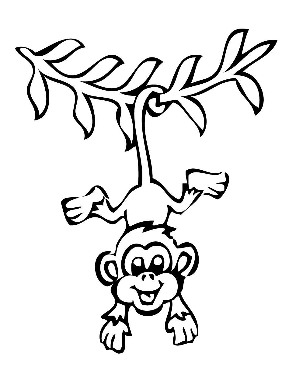 950x1230 Wonderful Coloring Pages Of Monkeys Cool Color