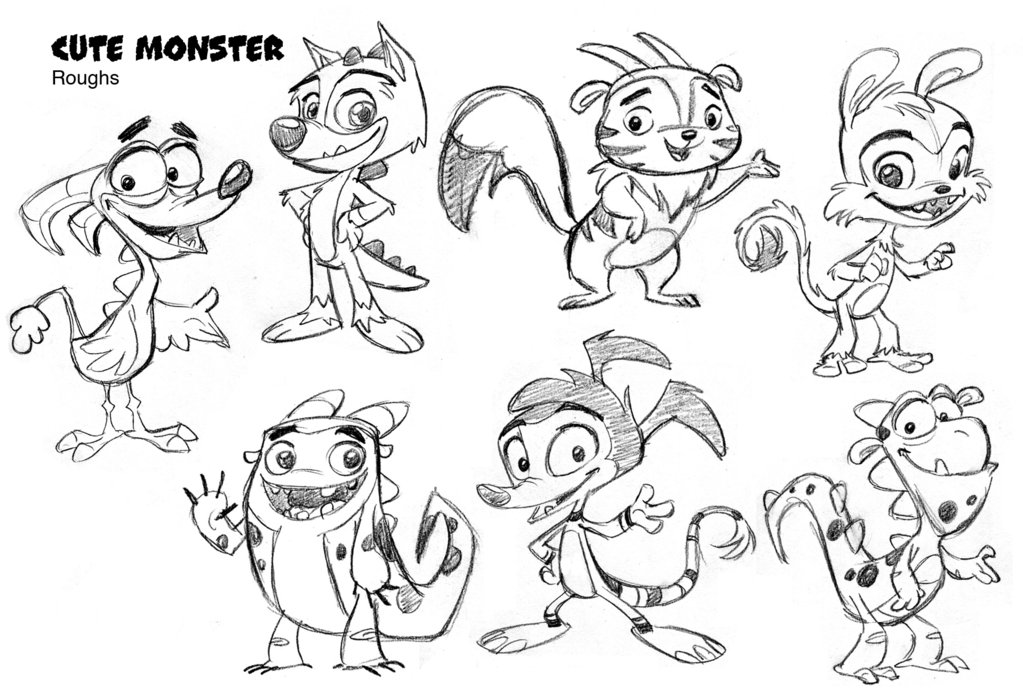 1023x697 Cute Monsters Concepts By Tombancroft