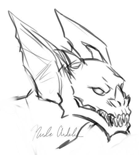 452x503 Gargoyle Head Sketch Monsterpieces
