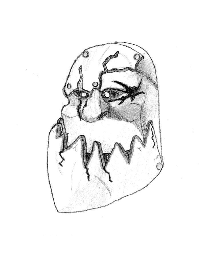 742x960 Monster Face Portrait By Colasik