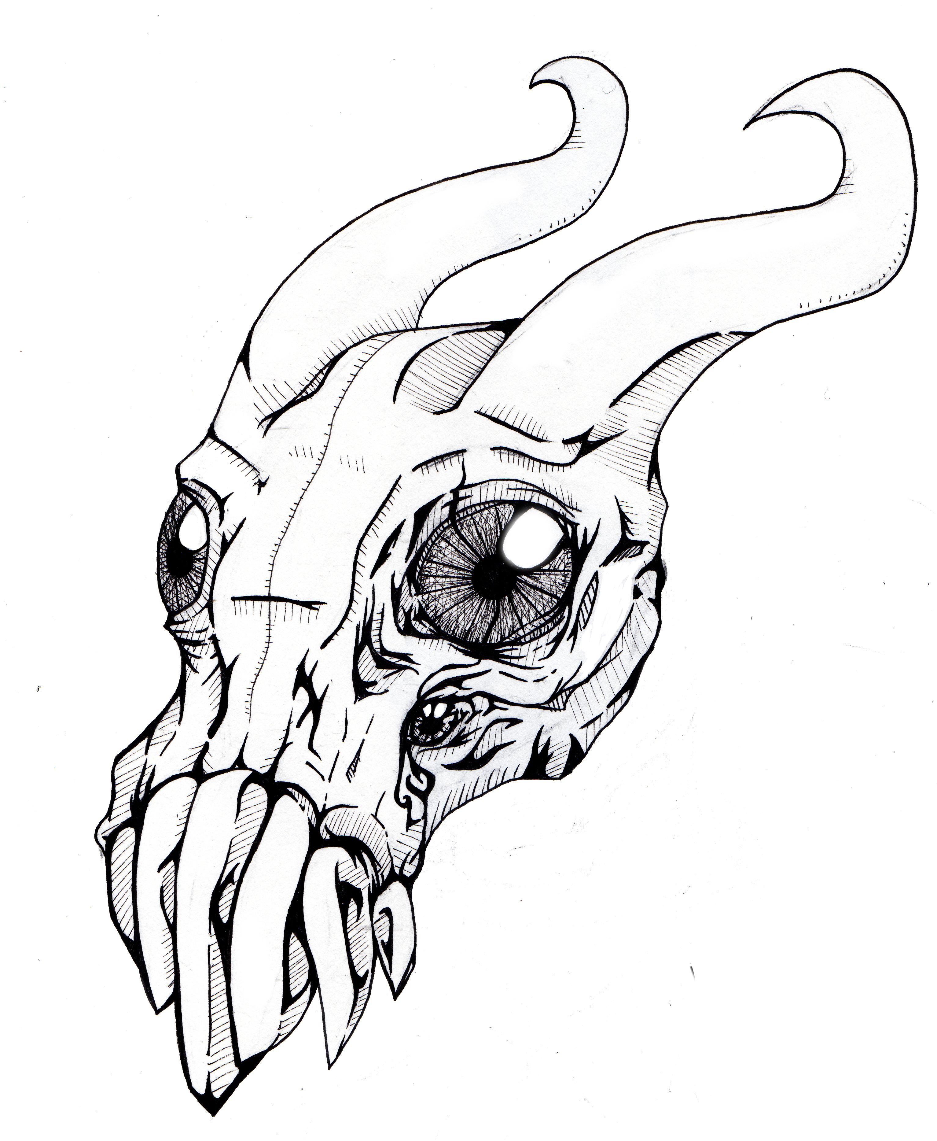 3066x3732 Monster Ink Sketch By 8bitmonster