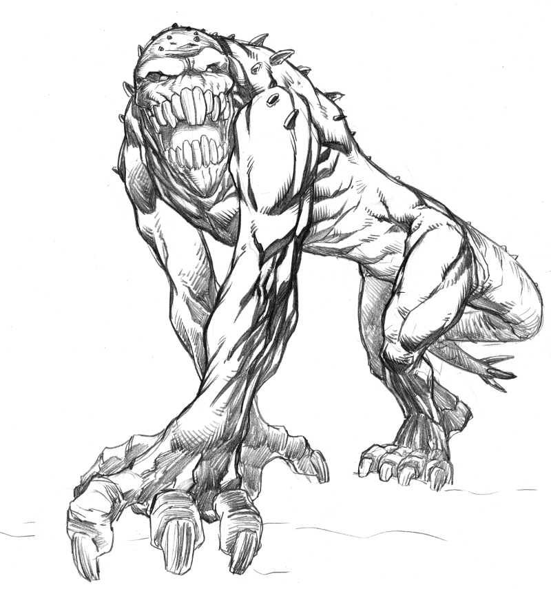 800x855 Monster Monday Sketch No.7 By Comicbookist