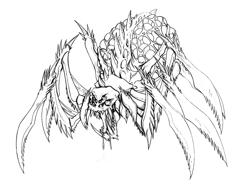 800x600 Monster Spider By Yindragon