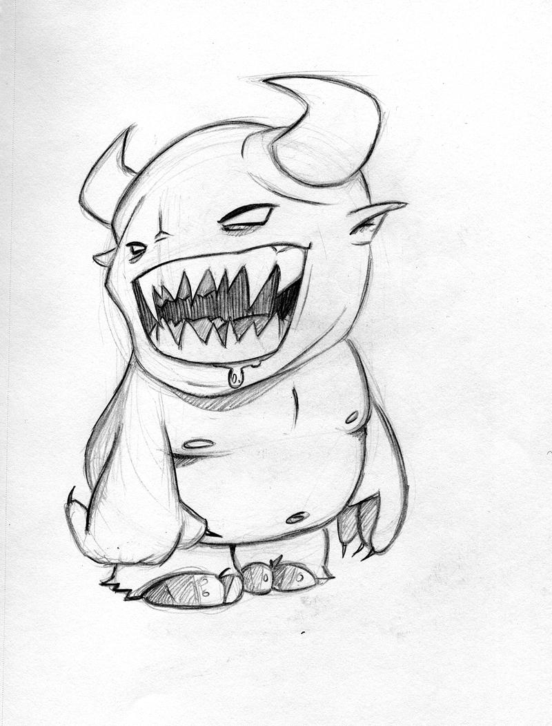 800x1051 Monster Sketch 2 By Garethcbrown