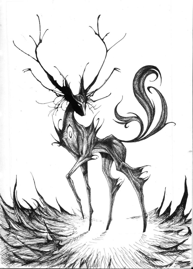758x1053 Spirit Of The Wild Ink Monster By Peter709