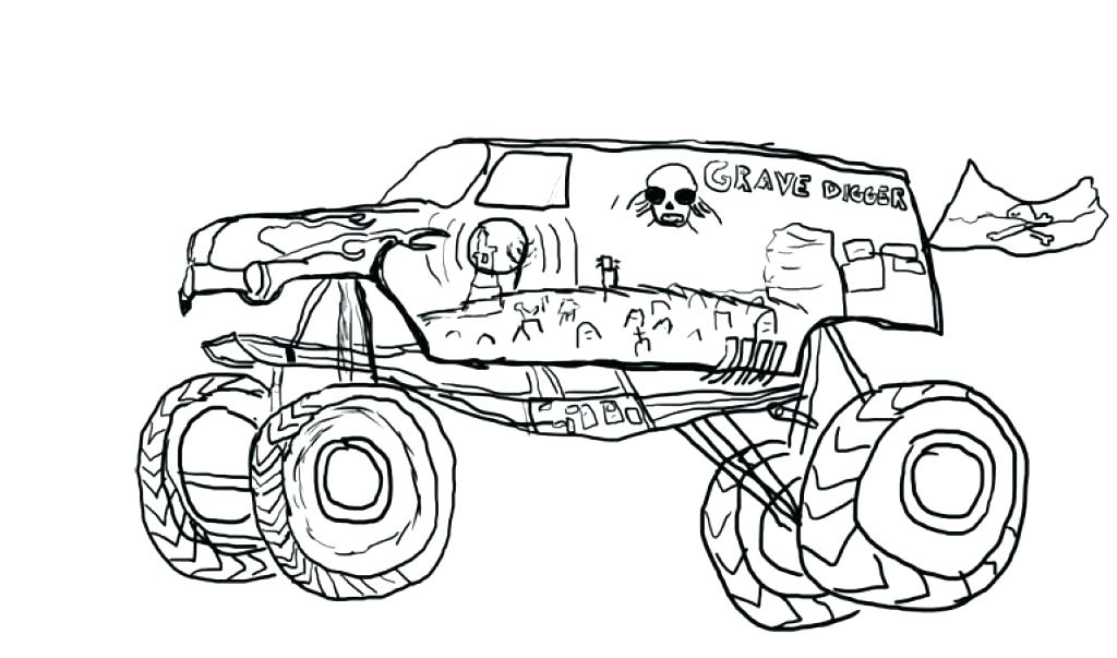 1024x603 Cool Monster Jam Coloring Pages Kids Draw A Truck Book The Stylish