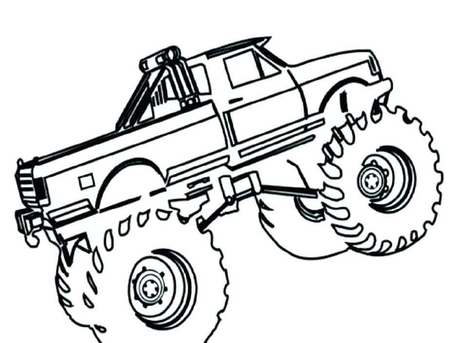 940x705 Cool Monster Truck Coloring Pages And Grinder Monster Truck