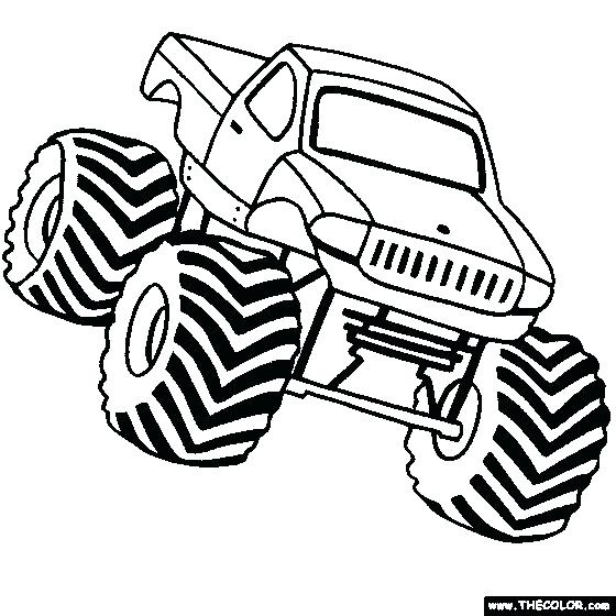 560x560 Cool Monster Truck Coloring Pages As Well As Monster Truck