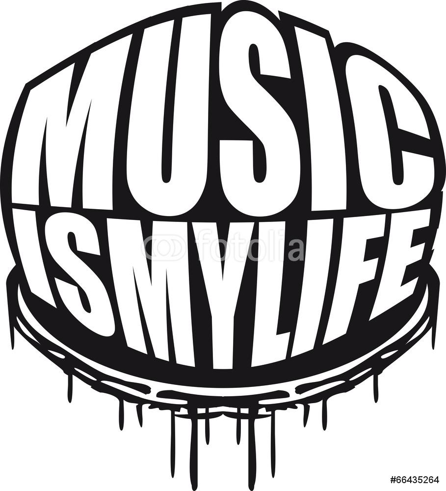 909x1000 Cool Music Is My Life Graffiti Design Wall Sticker Wall Stickers