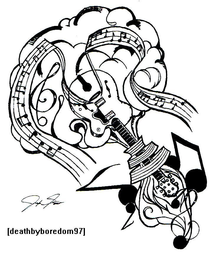 736x896 Rock Music Tattoo