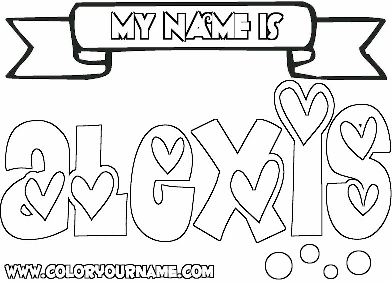 784x565 Girls Cool Name Coloring Pages