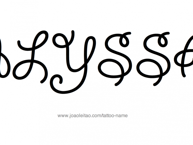 640x480 Cool Designs For Names Alyssa Name Tattoo Designs