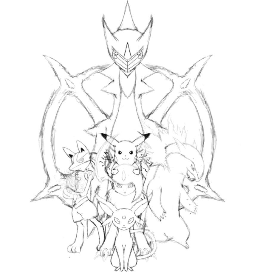 862x928 My Pokemon Team Remake Sketch By Jamalc157
