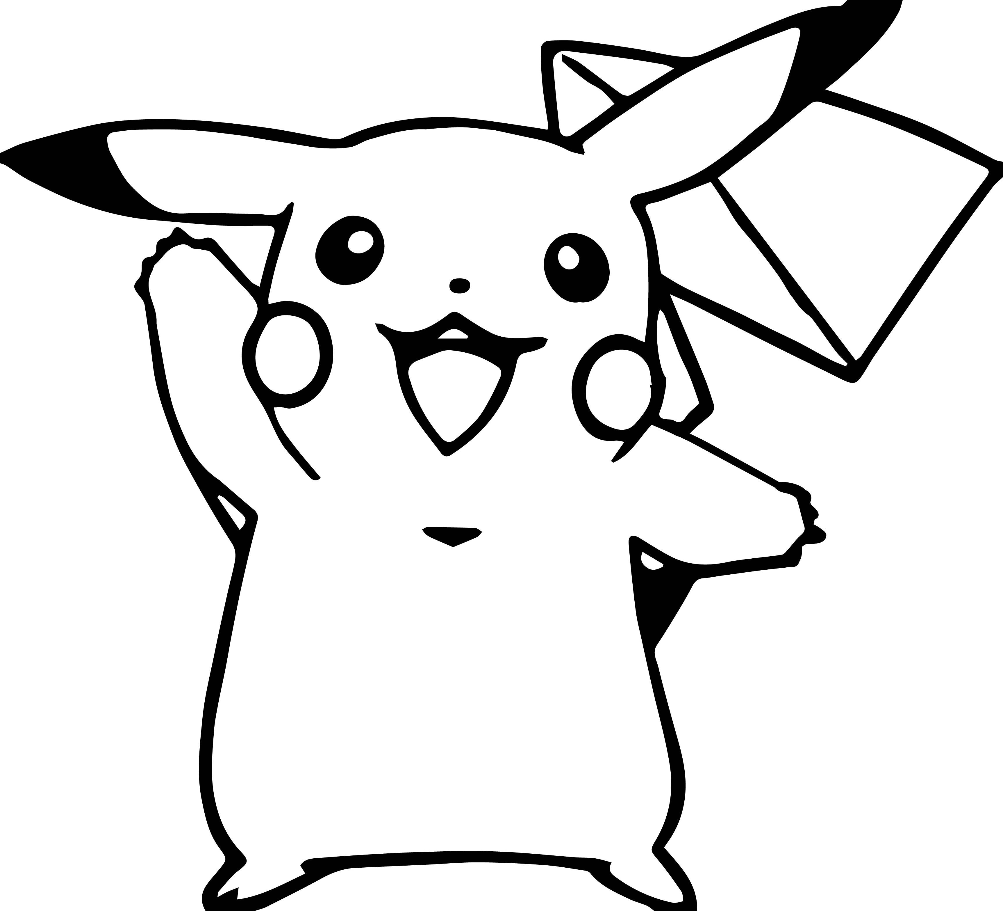 3450x3131 Cool Pokemon Coloring Pages I Choose You! Pokemon