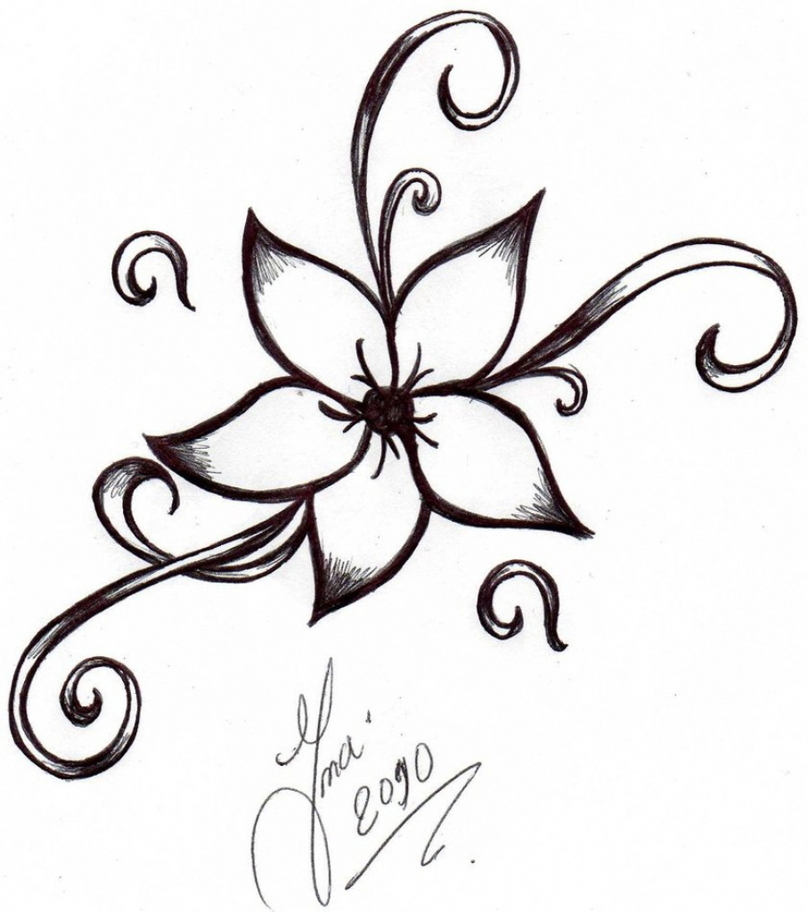 907x1024 Simple Flower Designs To Draw Flower Drawings Designs Cool